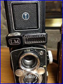 Yashica-mat LM Copal-mxv Vintage Camera With Leather Case Nice Condition Look
