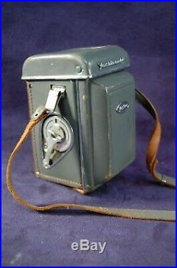 Yashika 44 127 Film Camera and Leather Case Free Priority Ship to the USA