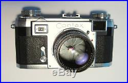 ZEISS Ikon CONTAX IIA Rangefinder 35mm camera, Sonnar 50mm lens & leather case